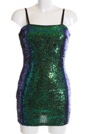 Forever 21 Sequin Dress green-blue color gradient wet-look