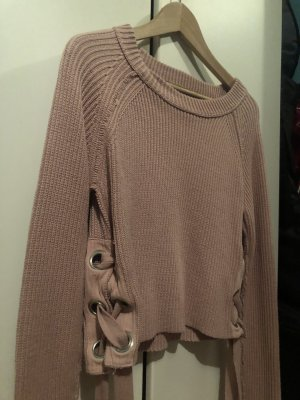 Forever 21 Coarse Knitted Sweater rose-gold-coloured