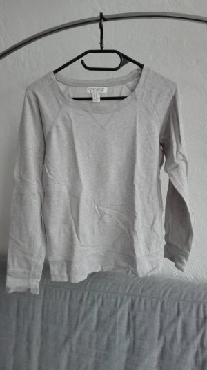 Forever 21 Pullover XS 34 grau silber essential Basic