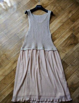 Forever 21 Rosé Beige Plissee Strick Kleid