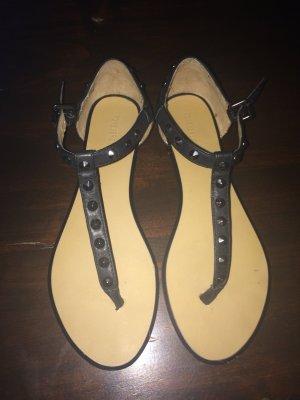 Forever 21 Sandalen mit Pailetten Gr.38 schwarz
