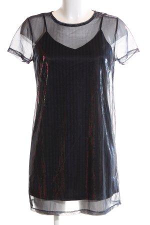 Forever 21 Shirtkleid schwarz Streifenmuster Elegant