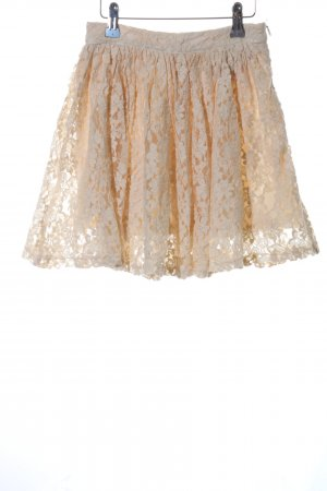 Forever 21 Lace Skirt cream beach look