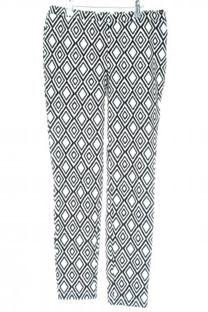 Forever 21 Stretchhose schwarz-weiß grafisches Muster Casual-Look