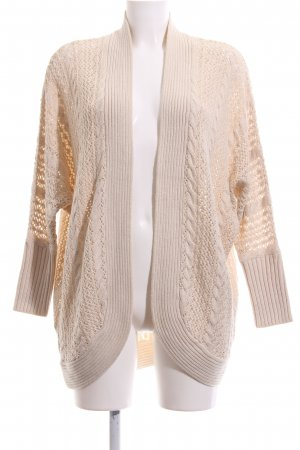 Forever 21 Strick Cardigan wollweiß Zopfmuster Casual-Look