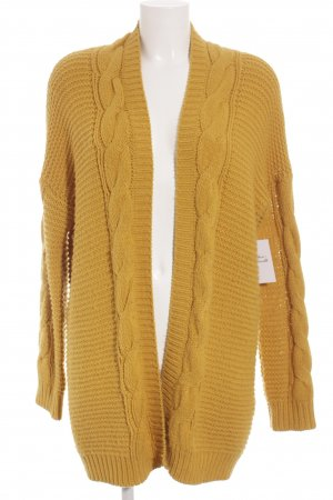 Forever 21 Strick Cardigan dunkelgelb Casual-Look
