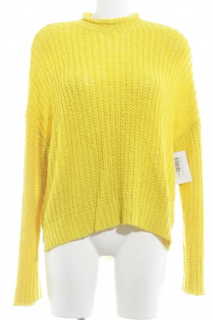 Forever 21 Strickpullover dunkelgelb Casual-Look