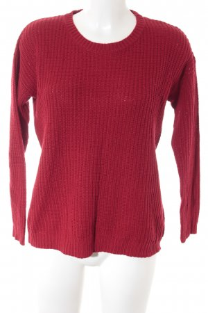 Forever 21 Strickpullover rot Casual-Look