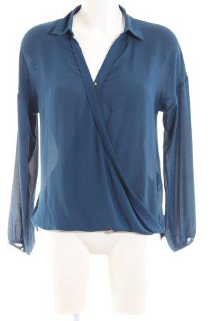 Forever 21 Wickel-Bluse blau Casual-Look