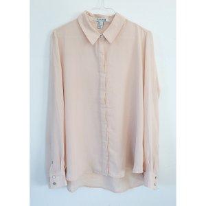 Forever 21 zarte Bluse rosa M L 38 40 Transparent Chiffon Style nude rosé