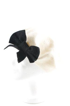 Forever New Baskenmütze creme-schwarz Elegant