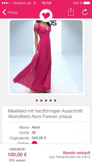 Forever unique Abendkleid pink