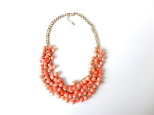 Forever21 Kette Modeschmuck gold Corall apricot Perlenkette