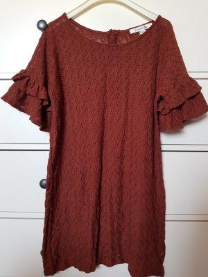 Forever21 Kleid dunkelbraun Häkeloptik