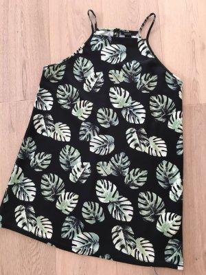 Forever21 Kleid schwarz grün Gr. M Neuwertig