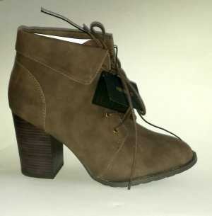 Forever21 Schnür-Booties Ankle Boots Booties Gr. 40 NEU braun