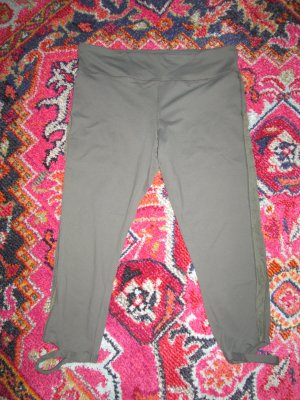 Forever21 Sportleggings Trainingsleggings Capri mit Mesh & Cut-Out Gr. L khaki oliv