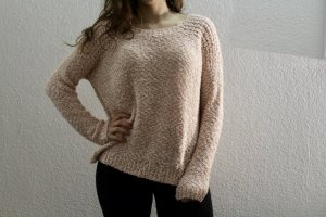 Forever21 Strickpullover in Pastell-Pink