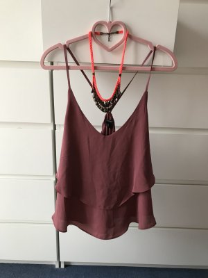 Forever 21 Flounce Top brown-brown red