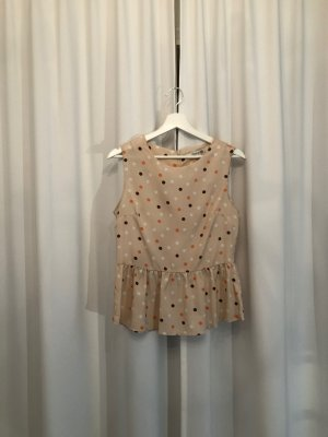 Forever21 Top Nude mit Polkadots