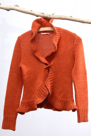 Form e Couleur Strickjacke orange