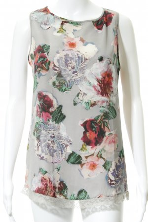 Fornarina ärmellose Bluse Blumenmuster Casual-Look
