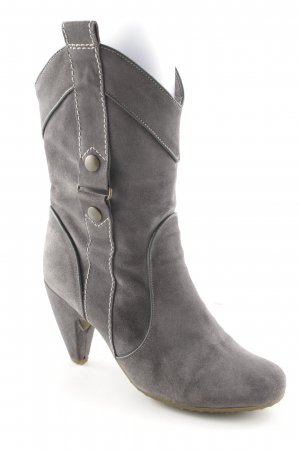 Fornarina Ankle Boots grau-goldfarben Boho-Look