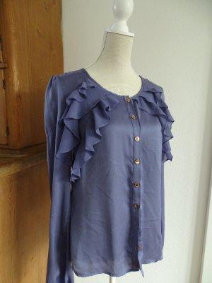 Fornarina Bluse mit Rüschen tolle Farbe