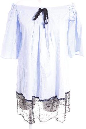 Fornarina Blusenkleid weiß-himmelblau Streifenmuster Casual-Look