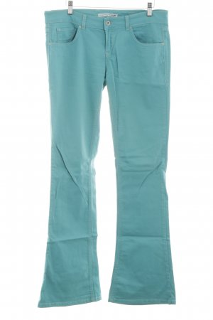 Fornarina Boot Cut Jeans türkis Casual-Look