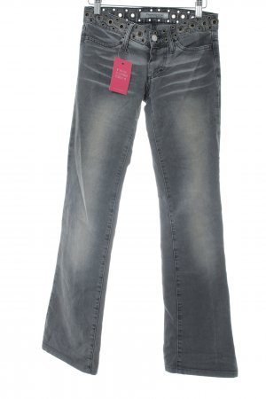 Fornarina Boot Cut Jeans grau Bleached-Optik