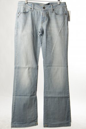 Fornarina Boot Cut Jeans himmelblau Used-Optik