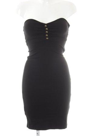 Fornarina Vestido bustier negro look casual