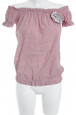Fornarina Carmen-Bluse rot-weiß Streifenmuster Casual-Look