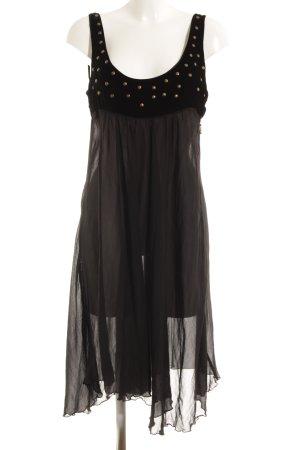 Fornarina Chiffonkleid schwarz Elegant