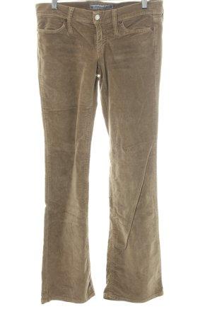 Fornarina Pantalone di velluto a coste marrone-grigio stile casual