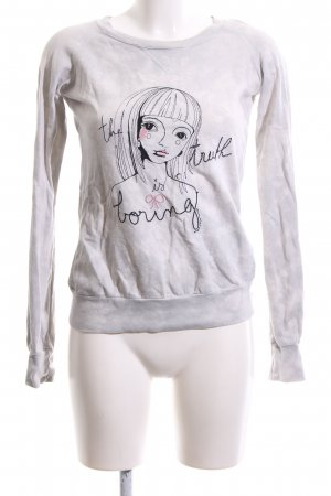Fornarina Cut Out Top light grey themed print casual look
