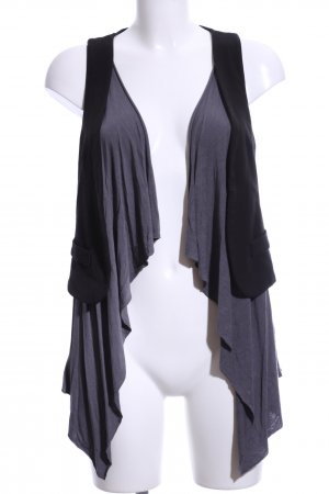 Fornarina Fringed Vest light grey-black casual look