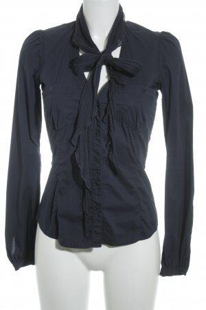 Fornarina Hemd-Bluse dunkelblau Casual-Look