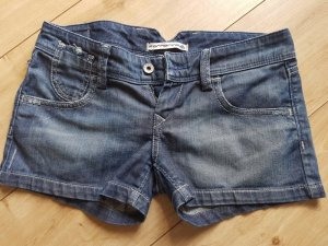 Fornarina Italy Jeans Shorts Blue denim Hot Pants 27 XS 34