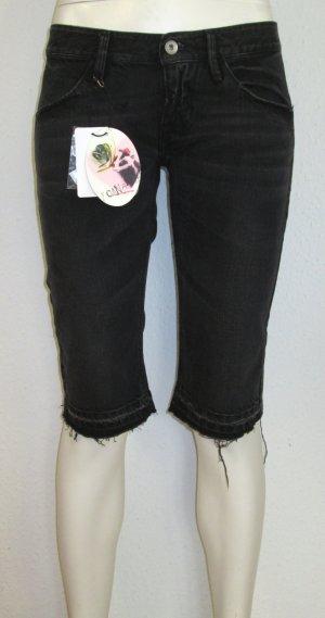 Fornarina Jeans Bermuda Gr. 28 schwarz Denim