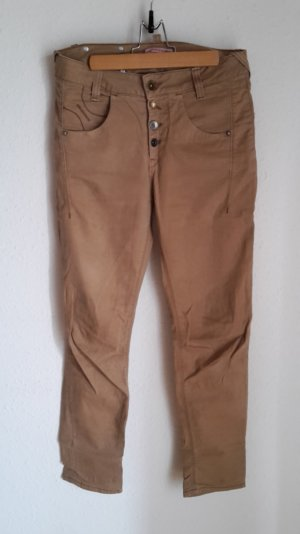 Fornarina Boyfriend Trousers beige-sand brown cotton