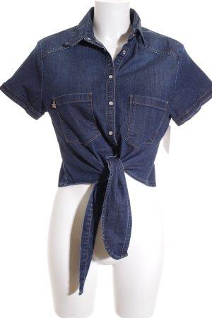 Fornarina Jeansbluse dunkelblau Casual-Look