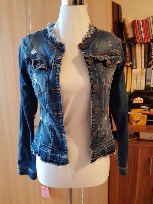 Fornarina Veste en jean bleu acier