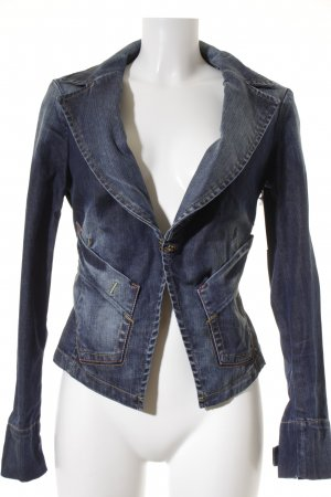 Fornarina Jeansjacke blau Street-Fashion-Look