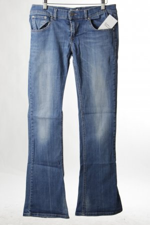 Fornarina Jeansschlaghose blau Used-Optik
