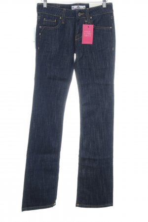 Fornarina Jeansschlaghose dunkelblau Casual-Look