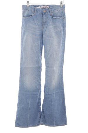 Fornarina Jeans a zampa d'elefante azzurro stile casual