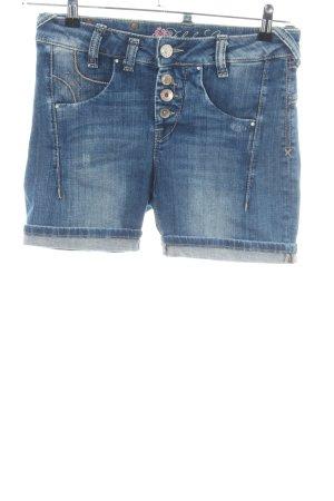 Fornarina Pantaloncino di jeans blu stile casual