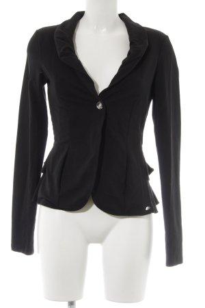 Fornarina Jersey blazer zwart Logo applicatie (metaal)